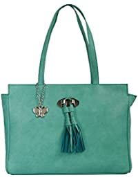 Butterflies Women Texture Handbag (Light Green) (BNS 0672LGN)