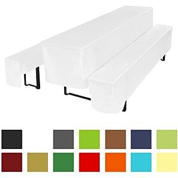 beautissu basic m bierbankhussen biertischhusse 3 tlg set f r 50cm breite. Black Bedroom Furniture Sets. Home Design Ideas