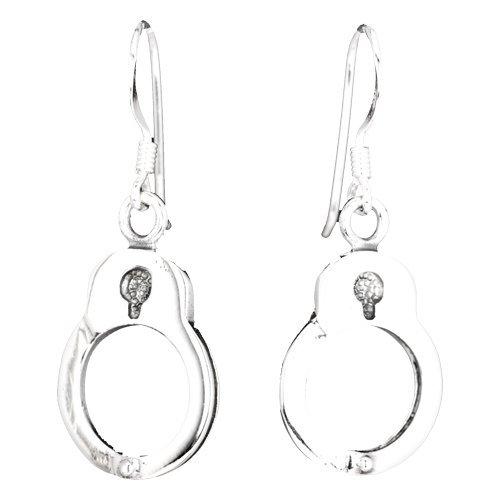Super Süße Handschellen Ohrringe aus 925 Sterling (Tiffany Perücken)