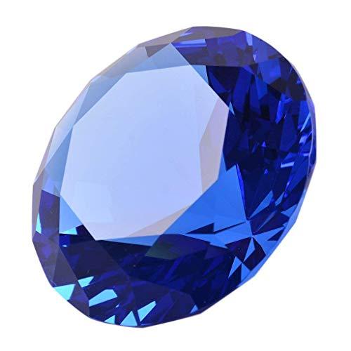 LONGWIN 60mm W Kristall-/Diamant-Briefbeschwerer, Ornament, für Zuhause, Dekoration, blau (Diamant Briefbeschwerer)