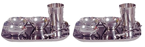 Dynore 12 pcs square design stainless steel dinner set  available at amazon for Rs.1500