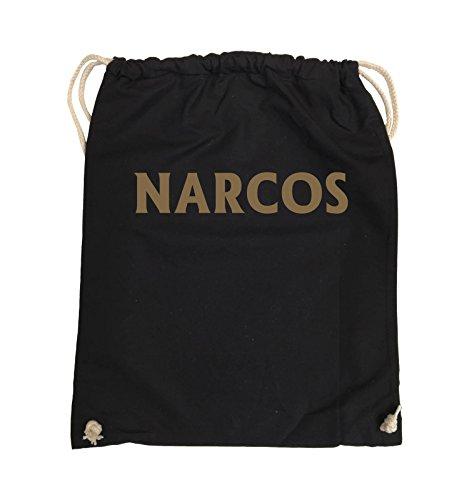 Borse Comiche - Narcos - Logo - Turnbeutel - 37x46cm - Colore: Nero / Argento Nero / Marrone Chiaro