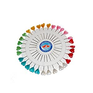 AKORD Heart-Shaped Craft Pins Wheel, Multi-Colour