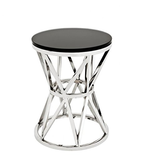 CASA PADRINO LUXURY ART DECO DESIGNER SIDE TABLE 29 X H  39 CM - LUXURY COLLECTION