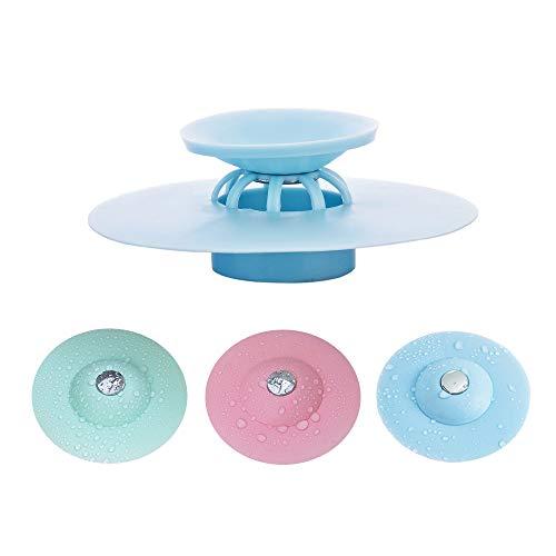 jiuhao 3 Stück Duschablauf Haarfänger für Waschbecken, Anti-Rutsch-Form, Silikon Badewannen-Abflussstopper, Home Küche Zubehör