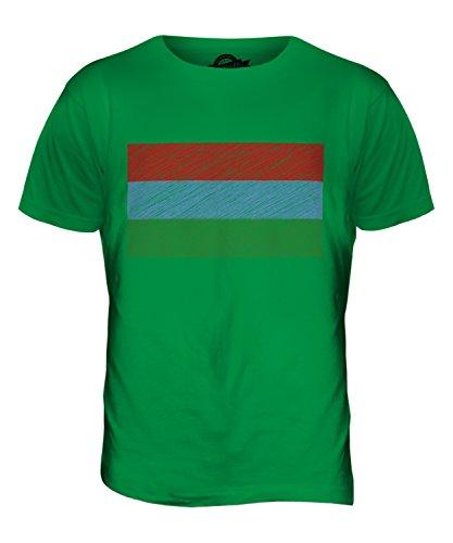 CandyMix Karelien Kritzelte Flagge Herren T Shirt Grün