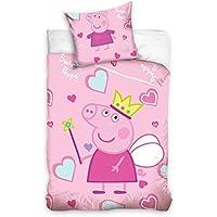 PeppaPig Juego de cama infantil (100 x 135 cm), color rosa