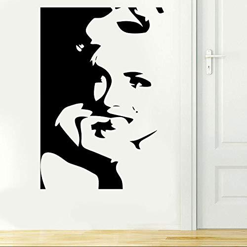 e Porträt Wandkunst Vinyl Aufkleber Aufkleber Wandbild Schlafzimmer Dekoration Wohnkultur Für Wohnzimmer 57 * 84 cm ()