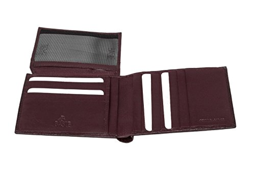 Portafoglio uomo BASILE bordeaux in pelle porta carte di credito con patta A4632