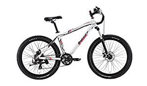 "CityEbike Electric Bike, 4G 26"" 5.2Ah lithium-ion electric motor bicycle/ebike (White)"
