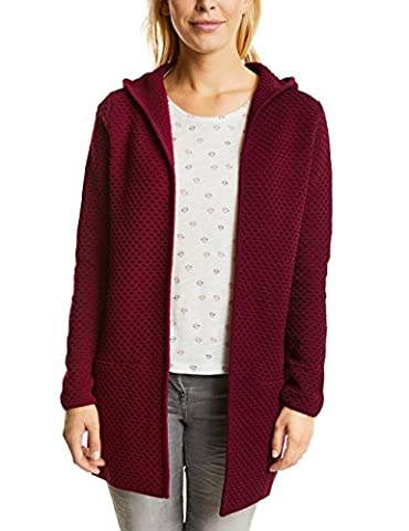 CECIL Damen Strickjacke Lene 252525 Rot (Velvet Red 10986), XX-Large
