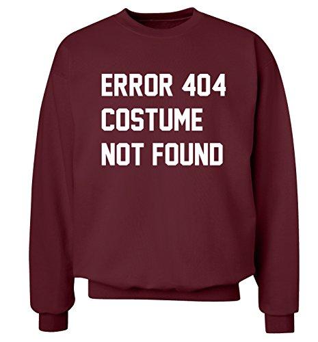 Fehler 404Kostüm nicht gefunden Sweatshirt XS–2X L Pullover Gr. XX-Large, kastanienbraun (404 Fehler Kostüm Nicht Gefunden)