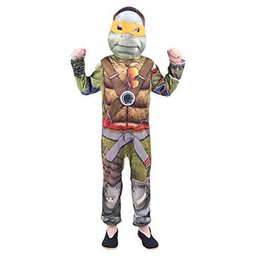 ZSDFGH Ninja Turtles Kostüm/kostüm Kinder Ninja/Ninja Turtles Kostim Frau/Fasching Kostüm - Kinder Ninja Kostüm Muster