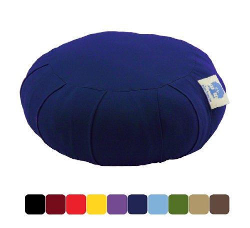Blue Banyan Zafu Coussin de méditation (Quallofil) - Bleu Foncé