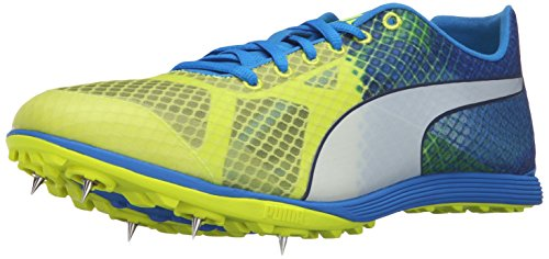 Puma EvoSPEED Crossfox v3 Baseball Cleat Synthétique Baskets Safety Yellow-Blue-Peacoat