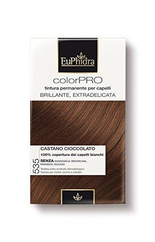Tinta per Capelli Colorazione Ultra Delicata CASTANO CIOCCOLATO 535 EUPHIDRA COLORPRO