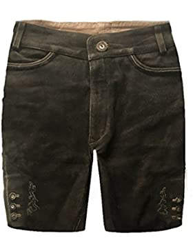 Herren Trachten Lederhose Trachtenlederhose Kurze Tracht Braun Gr.48#29
