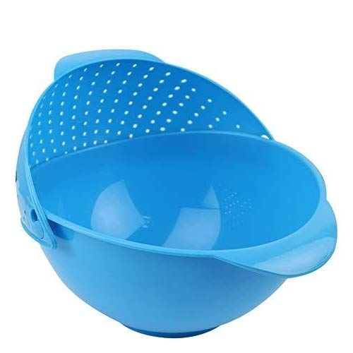 FELICAR Plastic Kitchen Tool Rice Bowl Strainer (Multicolour)