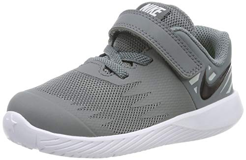Nike Unisex Baby Star Runner (TDV) Niedrige Hausschuhe, Mehrfarbig (Cool Black-Volt-Wolf Grey 006), 19.5 EU