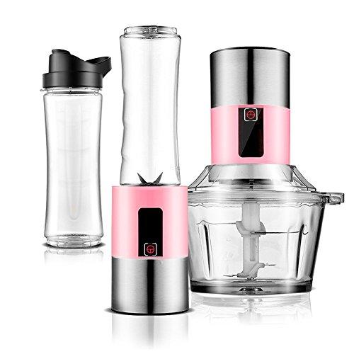 MENUDOWN Mixer Mixer Personal Mixer Multifunktionsmischer Juice Blenders Portable Smoothie Maker Juicer 450W Für Zuhause Sport Outdoor und Reisen,Pink