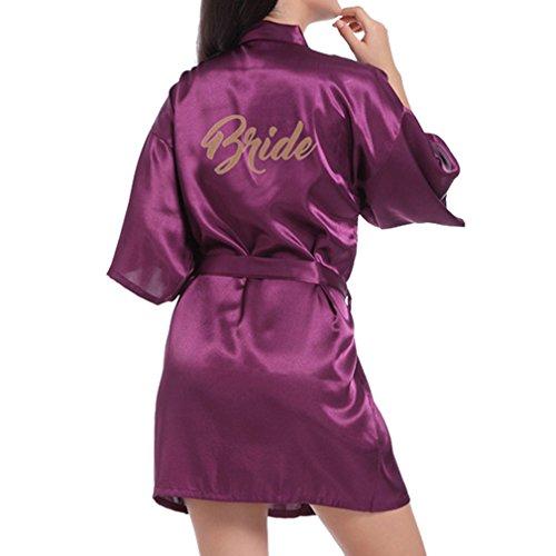 JiXuan   Bata Novia Mujer   Bata Corta   Kimono