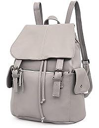 Preisvergleich für Outreo Rucksäcke Damen Schultertasche Leder Schulrucksack Vintage Rucksack Weekender Tasche Daypack PU Reiserucksack...