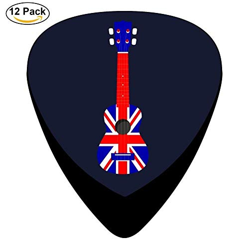 Celluloid Guitar Picks For Mandolin Guitar,Print England Flag Guitar 12 Pack