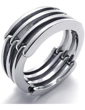 Mode Edelstahl Silber Transform Herren-Ringe -- von Aooaz Schmuck