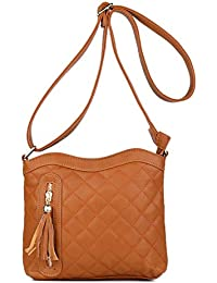 Korjo Women Crossbody Bags Pu Leather Multi-Pocket Small Shoulder Bag With Zipper Clutch And Long Strap Lightweight...