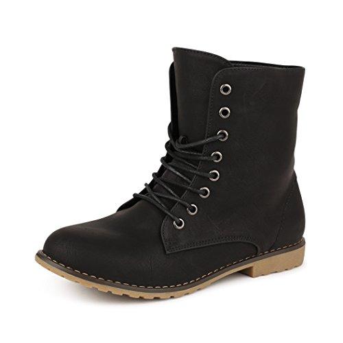 efelette Boots Worker Stiefel SCHWARZ 1253 Größe 41 (Super Günstige Damen Stiefel)