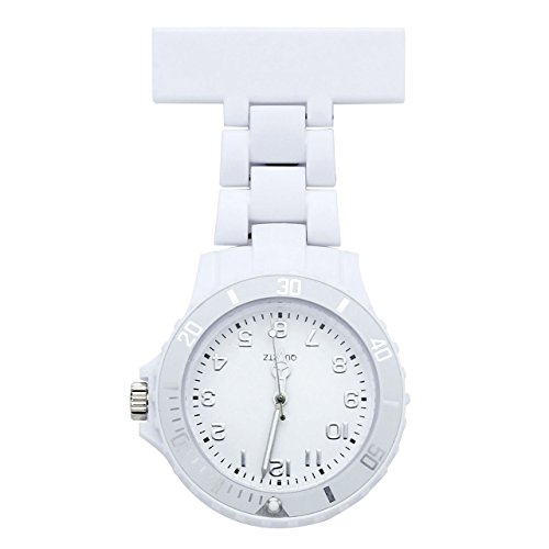 JSDDE-Womens-Girls-Fashion-Nurse-Clip-on-Fob-Brooch-Lapel-Hanging-Pocket-Watch-White