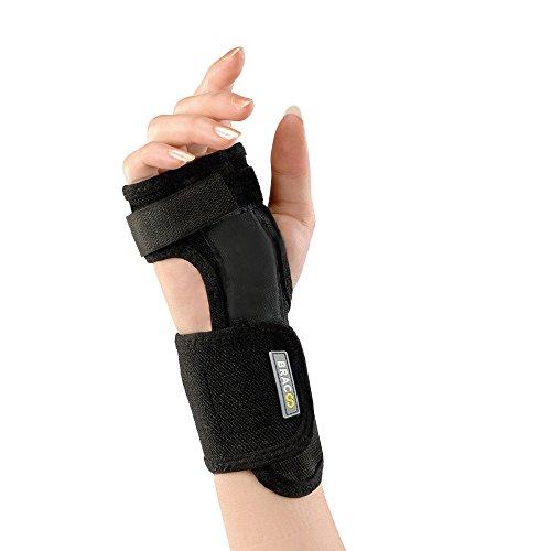 BRACOO Handgelenkschiene - Handgelenkschoner | Passt rechts & links | Handgelenkstütze bei Karpaltunnelsyndrom, Zerrungen und Arthritis | WP30 -