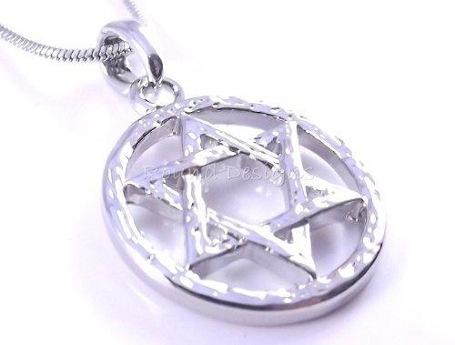 am Judaica Halskette Anhänger Kabbala Schmuck Silber Israel NEU ()