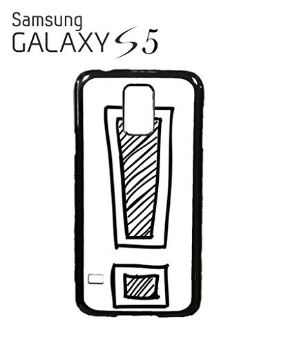 Exclamation Mark Geek Nerd Mobile Cell Phone Case Samsung Galaxy S5 Black Blanc