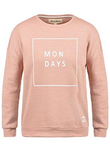 DESIRES Emma Damen Sweatshirt Pullover Sweater Mit Rundhalsausschnitt, Größe:M, Farbe:Ma. Rose M (4203M) - Emma Damen-jeans