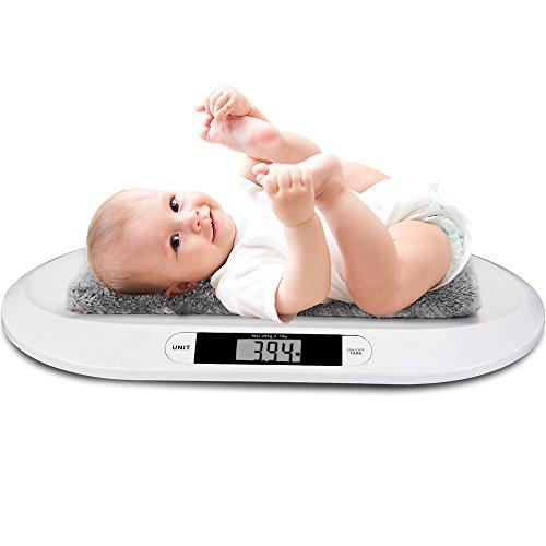 monzana Digitale Babywaage Kinderwaage bis 20kg LED-Anzeige Abschalt-/Tarierfunktion Säuglingswaage Stillwaage Tierwaage