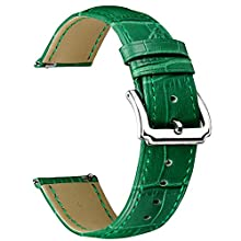 BINLUN Genuine Leather Watch Bands Quick Release Leather Watch Straps Replacement with 12 Colors Option (10mm, 12mm, 14mm, 15mm, 16mm, 17mm, 18mm, 19mm, 20mm, 21mm, 22mm, 23mm)