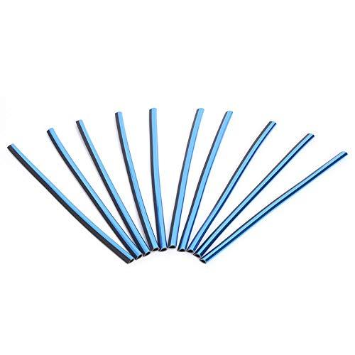 YouN 10pcs DIY Car Interior Air Conditioner Outlet Vent Grille Strips (Blue) -