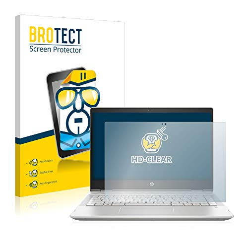 BROTECT Schutzfolie kompatibel mit HP Pavilion x360 14-cd1012nf klare Bildschirmschutz-Folie