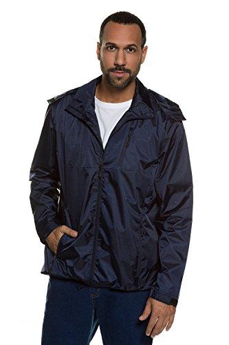 JP1880 Herren große Größen | Regenjacke | Nässe- und Windschutz | Atmungsaktivität | Nähte verschweißt | Stehkragen | abnehmbarer Kapuze | Meshfutter | bis Größe 7XL | 708442 Dunkelmarine