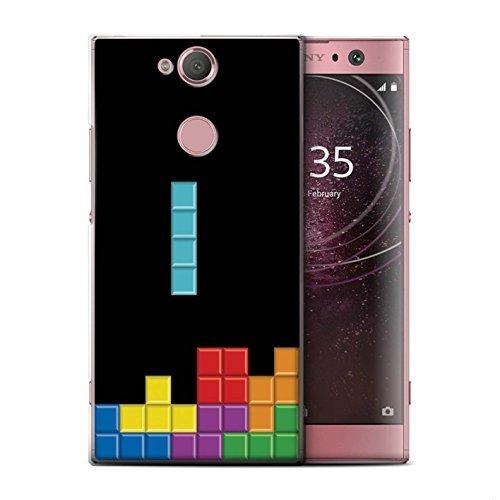 STUFF4 Phone Case/Cover for Sony Xperia L2/Block Puzzle Design/Retro Arcade Games Collection