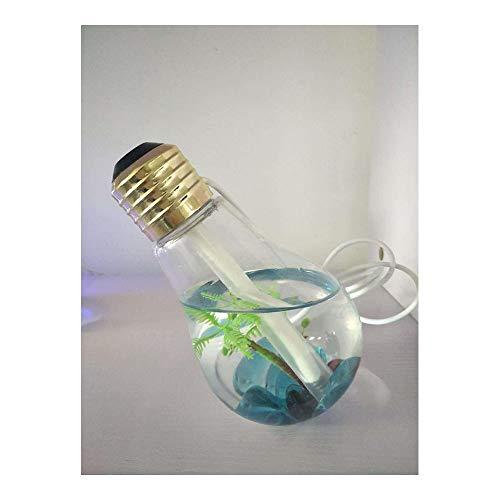 zhangchengxiang520 Neuer kreativer Glühlampen-Befeuchter, USB-Haus, Büro, Stiller LED-bunter Glühlampen-Befeuchter, bunter Nachtlicht-Befeuchter, Gold + grüner Stein (Led-haus-glühlampen)