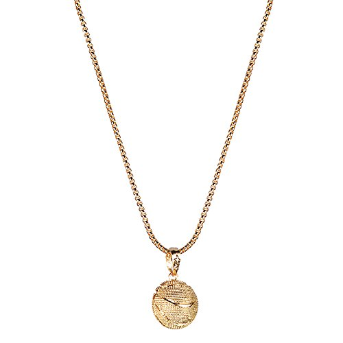 Merssavo Mode Femmes Collier Boule Bijoux Pendentif Collier Or Basketball