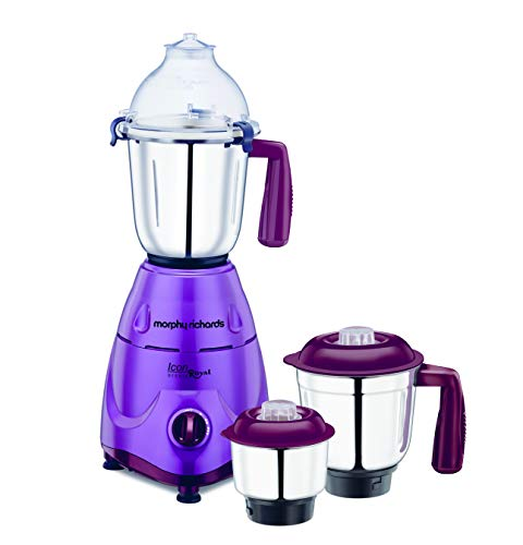 Morphy Richards Icon Royale 600-Watt Mixer Grinder (Orchid)