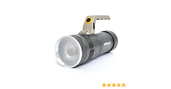 Police Torch Flashlight Lamp Apollo Charger Coloured Rechargeable And Hand Led Cable Length17cmAnthracite LampIncludes Battery 1200Portable ZPXTOiku
