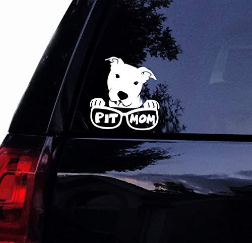 Celycasy Pitbull Aufkleber - Head Tilt Pit Bull Sonnenbrille Hund - Super süßer Vinyl-Autoaufkleber Laptop Aufkleber Auto Fenster Aufkleber Tilt Wall
