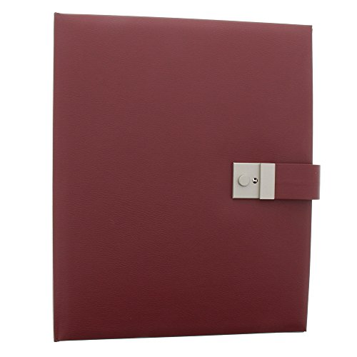 Goldbuch Dokumentenmappe, Bologna, 27,5 x 34 cm, Inklusive 5 Sichthüllen, Erweiterbar, Mit Schloss, Kunstleder, Dunkelrot, 53525