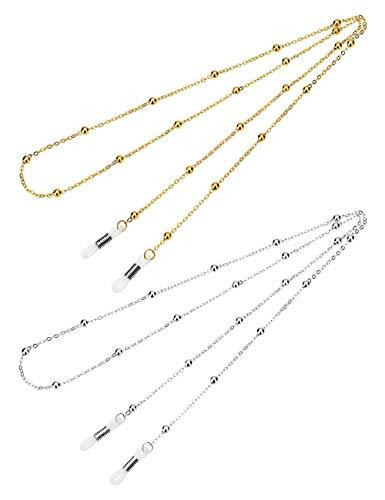 Mini Tree Brillenketten für Lesebrillen Gold und Silber Perlen Brillenband Brillen Cord Damen Lesebrille Brille Kette Sonnebrillen Band Lesebrillen Kette Lesebrillen Band Brille Cords Hals Cord -