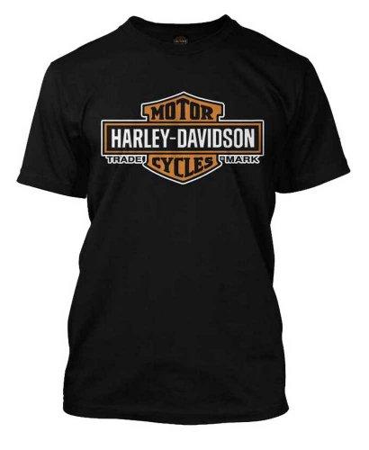 HARLEY-DAVIDSON 30290285 Herren T-Shirt Orange Bar & Shield Schwarz - Schwarz - XX-Large