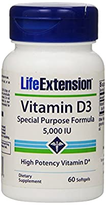 Life Extension Vitamin D3 (5,000IU, 60 Softgels) from Life Extension